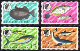 ASCENSION 1968 - PECES - FISHES - YVERT Nº 119-122-124-125** - Ascension
