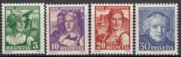 SCHWEIZ  266-269,  Postfrisch **, Pro Juventute 1933, Trachten - Neufs