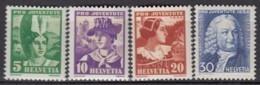 SCHWEIZ  281-284,  Postfrisch **, Pro Juventute 1934, Trachten - Neufs