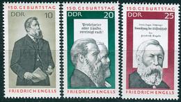 DDR - Mi 1622 / 1624 ✶✶ (B) - Fridrich Engels - Ongebruikt
