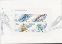 RFA -J.O. D'hiver Salt Lake City - Bloc YT 56A** / Winterspiele 2002 -MH-Mi.Nr. 47** - Blokken