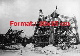 Reproduction Photographie Ancienne Du Chantierdela Tour Eiffel Avec L'élévation D'un Pied En 1888 - Reproductions