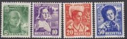 SCHWEIZ  306-309,  Postfrisch **, Pro Juventute 1936, Trachten - Neufs