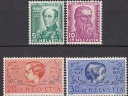 SCHWEIZ  314-317,  Postfrisch **, 25 Jahre Pro Juventute 1937 - Neufs