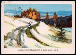 E7043 - Glückwunschkarte Neujahr - Winterlandschaft - Reichenbach - Neujahr