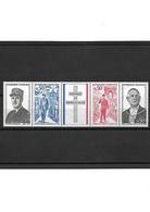 1460 Anniversaire De L Amort Du Général De Gaulle 1971 YT 1698 A La Bande Complète Neuf ** - Unused Stamps