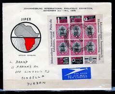 FDC Johannesburg International Philatelic Exhibition Naar Congella Durban - Storia Postale
