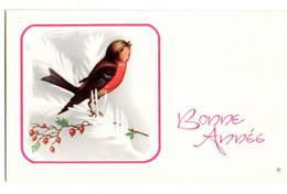 Bonne Année --carte Mignonnette --- Joli Oiseau Sur Branche De Sapin Gelée.... à Saisir - Neujahr