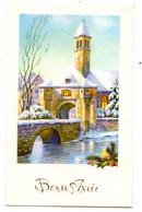 Bonne Année --carte Mignonnette --Paysage De Neige (chapelle, Pont ).... à Saisir - Neujahr
