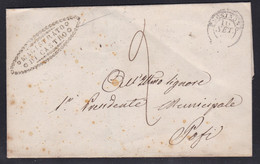 Italy - 1850 Wrapper - Castro To Pofi - 1. ...-1850 Prephilately