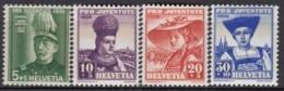 SCHWEIZ  359-362,  Postfrisch **, Pro Juventute 1939, Trachten - Neufs