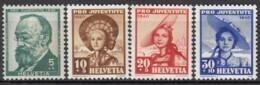 SCHWEIZ  373-376,  Postfrisch **, Pro Juventute 1940, Trachten - Neufs