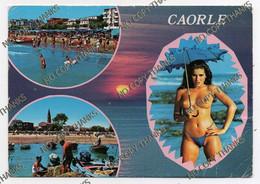 CAORLE - Pesca Pescatore Nude Girl Pin Up Ombrello Ombrella Umbrella - Venezia (Venice)