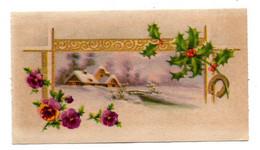 Bonne Année --cartes Mignonnettes -Paysages De Neige  (fleurs).... à Saisir - Neujahr