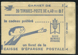 FRANCE - CARNET N° 1536B -C 2 - CONF. 5 - AVEC RE - * * - COMPLET FERMÉ & LUXE - Standaardgebruik