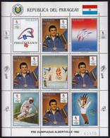Paraguay 1989 / Olympic Games Albertville 1992 / Philex France / Franck Piccard, Marina Kiehl - Skiing Calgary / MNH - Invierno 1992: Albertville