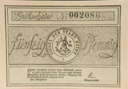 Sza.20 - Germany 1921 Notgeld Banknote 50 Pfennig Heidi Grabowski/Mehl 588.1a-2/3 UNC - [11] Local Banknote Issues