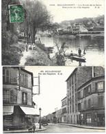 92 - BILLANCOURT - LOT DE 2 CPA - N° 1436 Bords De Seine Vue Prise De L'Ile Seguin Circulé - N° 169 Rue Des Peupliers NC - Boulogne Billancourt