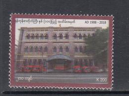 2018 Myanmar Yangoon Post Office Building Complete Set Of 1 MNH - Myanmar (Birmanie 1948-...)