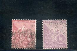 CAP DE BONNE-ESPERANCE 1882-3 O FIL CA - Capo Di Buona Speranza (1853-1904)