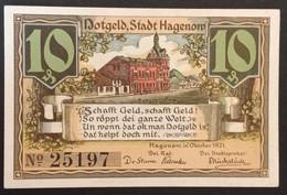 Sza.20 - Germany 1921 Notgeld Banknote 10 Pfennig Hagenow Grabowski/Mehl 500.1a-1/4 UNC - [11] Local Banknote Issues