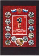 Burundi, 2016. Football, World Cup 2018 (22 S\s+51 Blocks) - 2018 – Russia