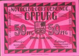 Sza.20 - Germany 1921 Notgeld Banknote 50 Pfennig Oppurg Grabowski/Mehl 1023.1b-3/4 UNC - [11] Local Banknote Issues