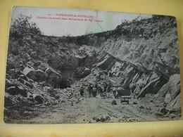 50 8711 - TRES RARE - ST GEORGES DE ROUELLEY - OUVRIERS AU TRAVAIL DANS LES CARRIERES DU VAL CHAPON - 1912 - ANIMATION - Other Municipalities
