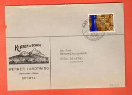 ZIA-00 Umschlag Kirsch De Schwyz Werner Landtwing An Das Betreibungsamt Liestal. Stempel Seewen Am Lauerzersee.Schach. - Covers & Documents