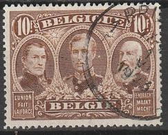 Belgie 1918 3 Koningen Yvert 149 Gestempeld, Oblitéré - 1915-1920 Alberto I