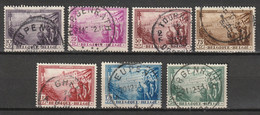 """Belgie 1932 Tuberculose Sanatorium """"De Dennen"""" Yv. 356-362 Gestempeld, Oblitéré. - Oblitérés"""