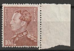 Belgie 1936 Leopold III 10 Fr Bleekbruin. Ongestempeld. Yv. 434A - 1936-1951 Poortman