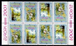 2001 Georgia Europa CEPT Water Source Of Life Booklet Sheet MNH** MiNr. 376 D- 377 D KW 20 MIE - Georgien