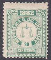 Uruguay, Scott #46, Mint Hinged, Scales, Issued 1882 - Uruguay