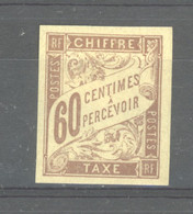 0co  589 -  Colonies Générales  -  Taxes  :  Yv  24a   *   Brun Violacé - Segnatasse