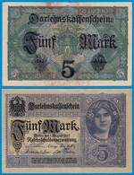 Deutschland - Germany 5 Mark 1917 Ro 54b Pick 56 VF+ (3+) Serie R  (18444 - Zonder Classificatie