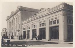 SASSARI-VIA ROMA=LA FIAT= CARTOLINA VERA FOTOGRAFIA NON VIAGGIATA-DATATA 18-1-1931 - Sassari
