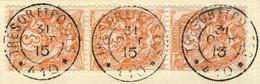 EGYPTE / ALEXANDRIE (Bureau Français) 1915 (31/10) CàD SP 410 Sur 3xYv.21 3c Blanc / Corps Expéditionnaire D'Orient - Usados