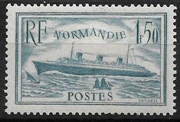 """France N°300* Paquebot """"Normandie"""" Cote 70€ - Ongebruikt"""