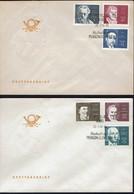 DDR 1970 - Berühmte Persönlichkeite - Gutenberg - Beethoven - MiNr 1534-1539 FDC - FDC: Briefe