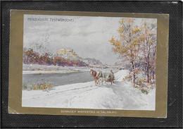 AK 0637  Compton , E. T. - Sonniger Wintertag In Salzburg / Künstlerkarte Um 1907 - Compton, E.T.