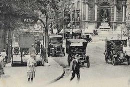 CPA 75 Paris 6e Station De Métro SAINT MICHEL édicule Guimard Ligne N°4 Place Et Fontaine Saint Michel 1923 LL N° 281 - District 06