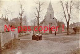 PHOTO FRANCAISE - LES CARMELITES DE REIMS REFUGIEES A AUBILLY PRES DE VRIGNY - REIMS MARNE 1915 - GUERRE 1914 1918 - 1914-18