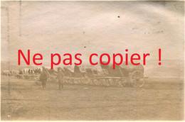 PHOTO FRANCAISE - LE PARC DE VOITURES A AUBILLY PRES DE VRIGNY - REIMS MARNE 1915 - GUERRE 1914 1918 - 1914-18