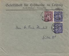 Bergbau: Gesellschaft Für Erdkunde Zu Leipzig, 1922, Graffi Museum - Covers