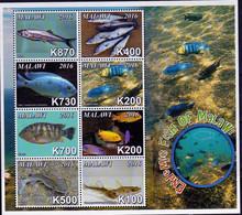 2016 UMM M/S Endemic Fish Of Malawi - Malawi (1964-...)