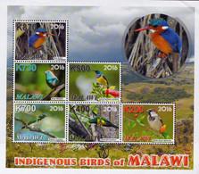 2016 UMM M/S Birds Of Malawi - Malawi (1964-...)
