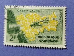 1961 -  REPUBBLICA CABONAISE  - VALORE 2 F   -  USATO - Gabon (1960-...)