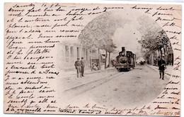 Saintes - Cours National - Train - Tacot  -  CPA°r - Saintes