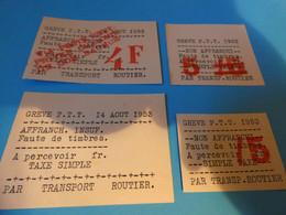 TIMBRE DE GREVE   SUR ENVELOPPE  DE  SAUMUR - Strike Stamps